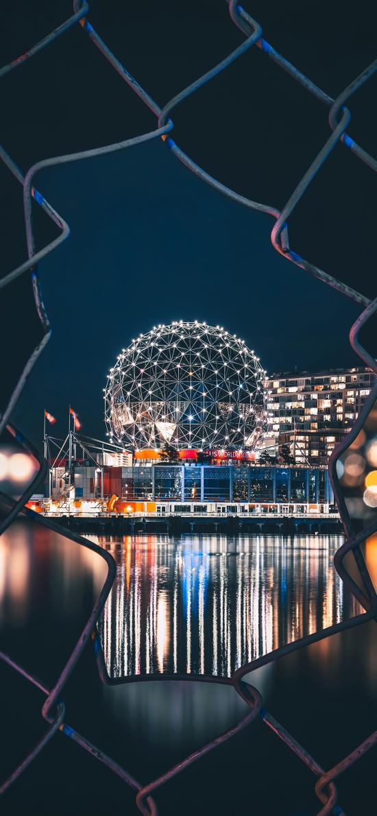夜景 建筑 标志性 铁丝网