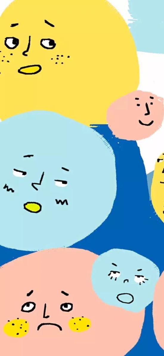 卡通 圆点 表情 色彩