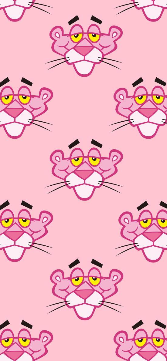 粉红豹 顽皮豹 粉色 动画 平铺