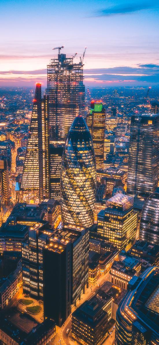 城市 夜景 灯光 高楼大厦