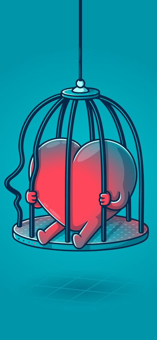 心脏 关闭 牢笼 封闭