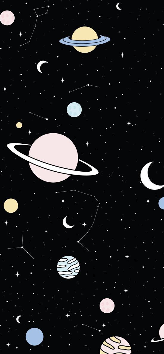 星空 璀璨 星球 银河