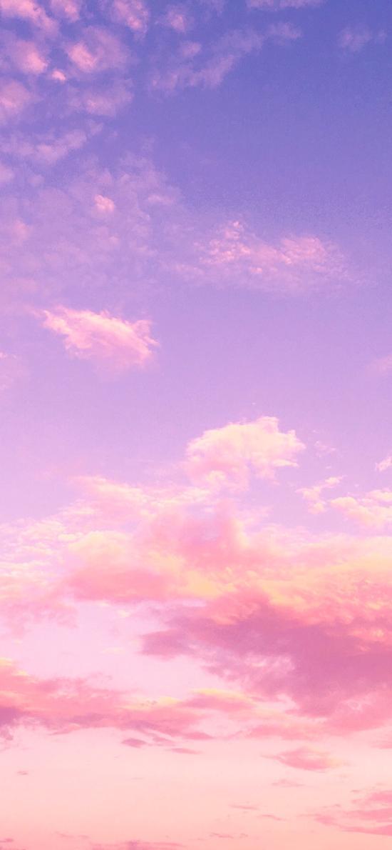 天空 漸變 粉色 唯美
