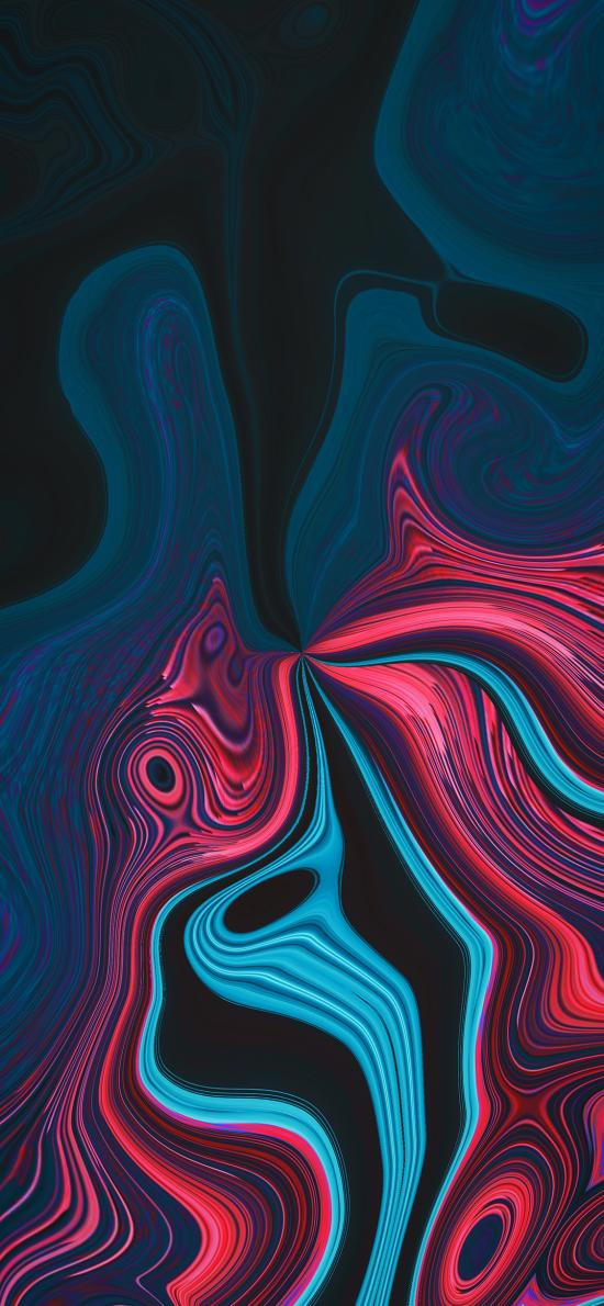 曲線 流動 抽象 線條