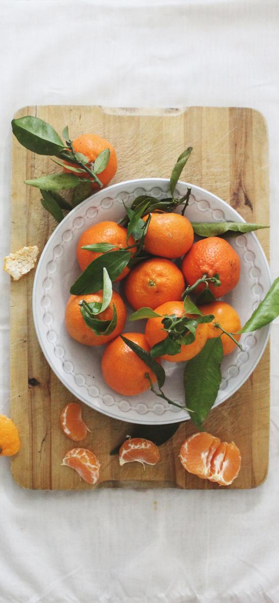 橘子 水果 案板 砂糖橘
