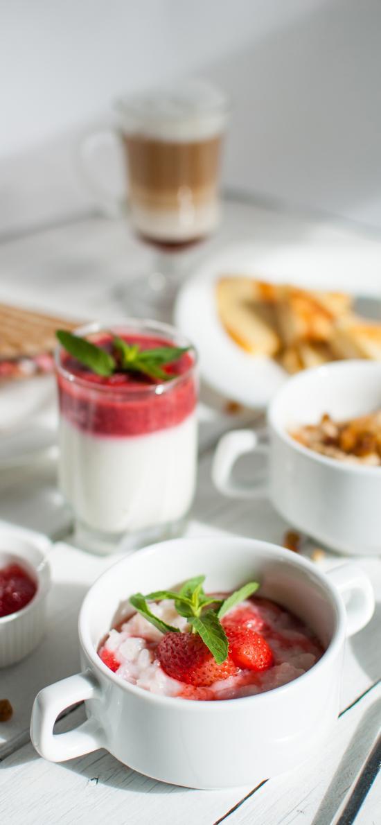 草莓 薄荷 果醬 奶昔