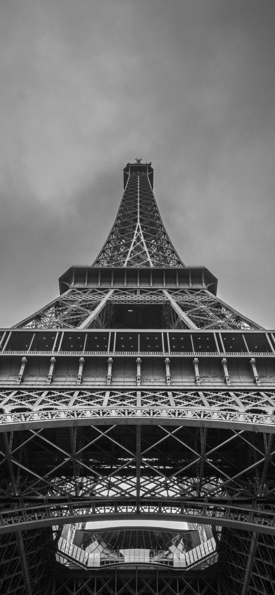建筑 地標 埃菲爾鐵塔 黑白
