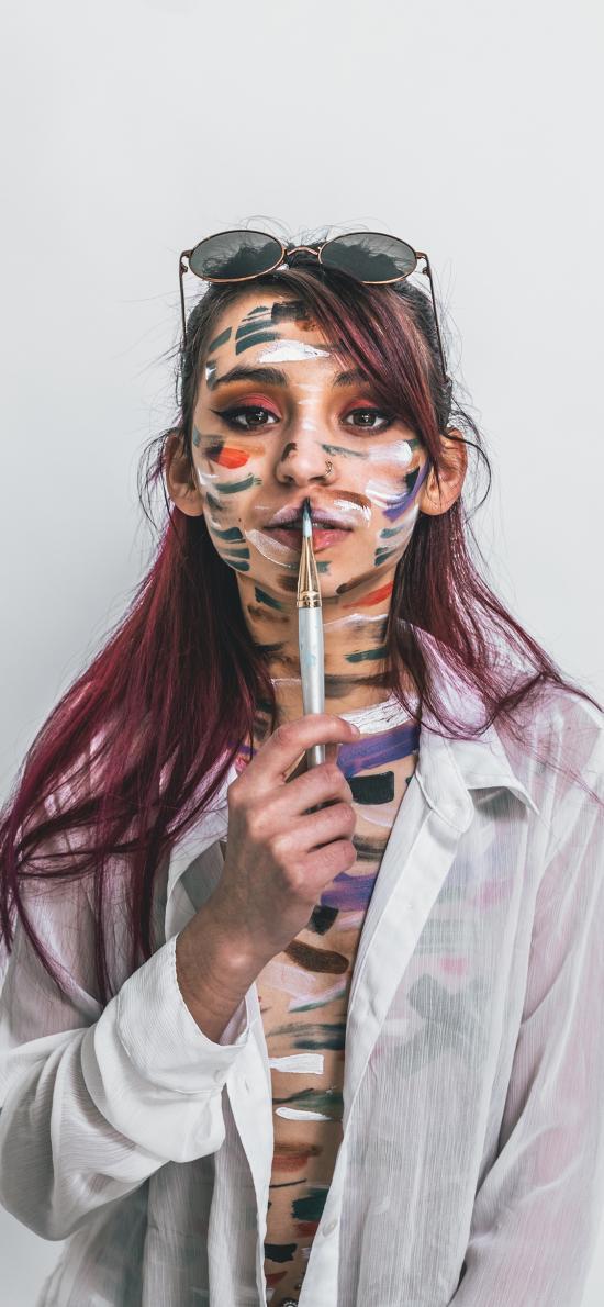 个性 彩绘 人体 颜料