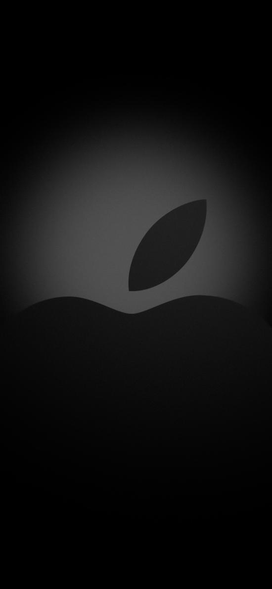 苹果 logo 品牌 黑色