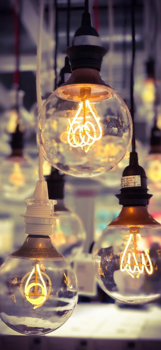 灯泡 照明 玻璃瓶 钨丝 垂吊