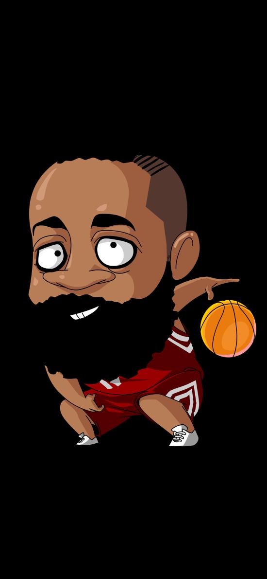哈登 篮球 运动员 卡通 球星
