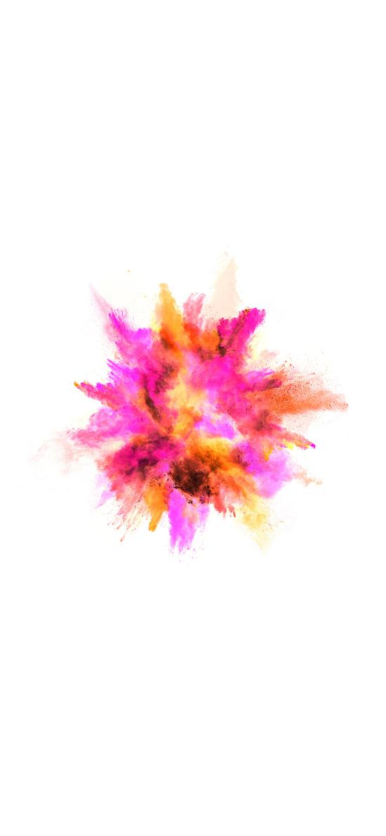 粉末 喷射 发散 色彩 炫丽
