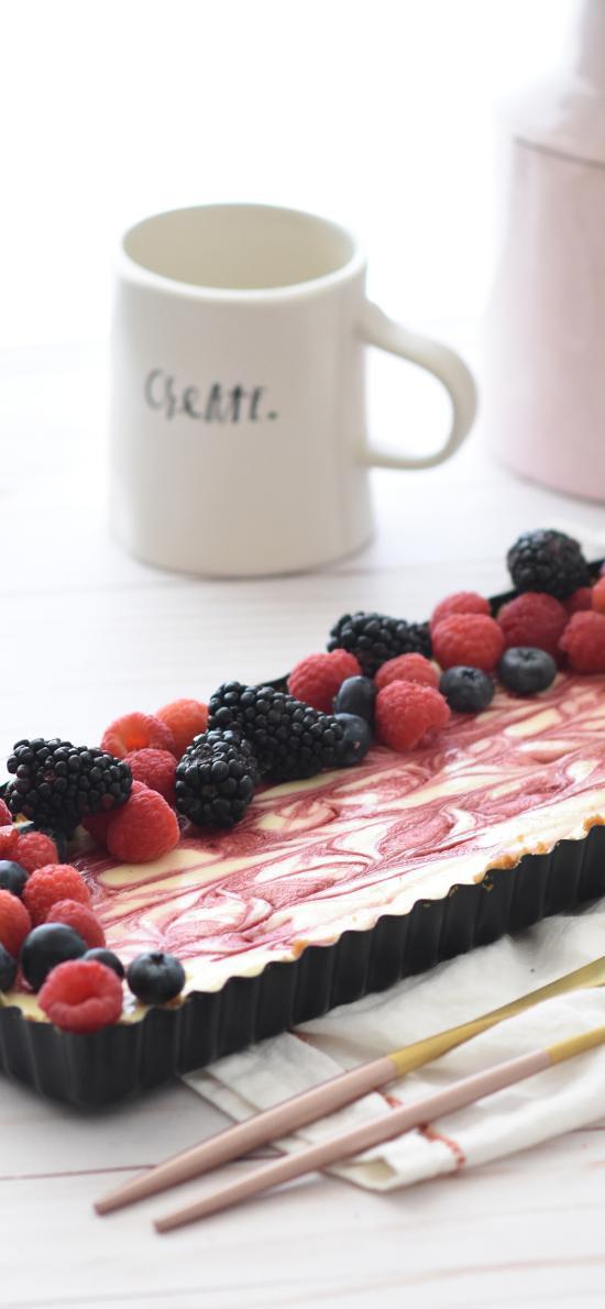 甜品 蔓越莓 餐具 派