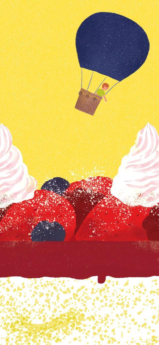 热气球 糖霜 甜品 奶油