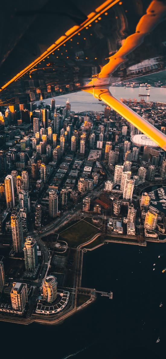 城市 航拍 建筑 楼房 沿海