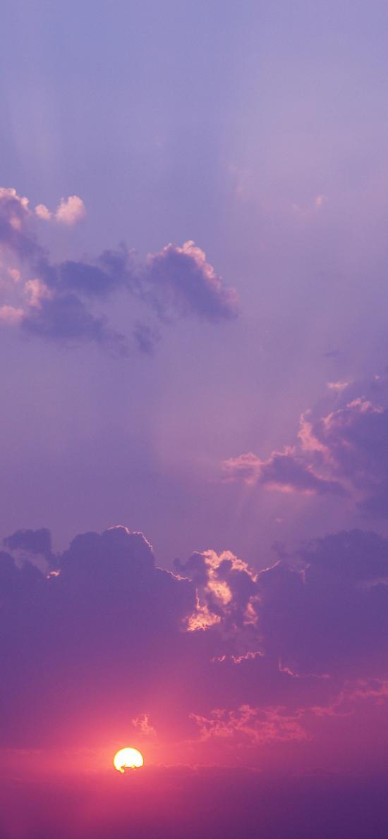 日出 日落 太阳 天空 云彩