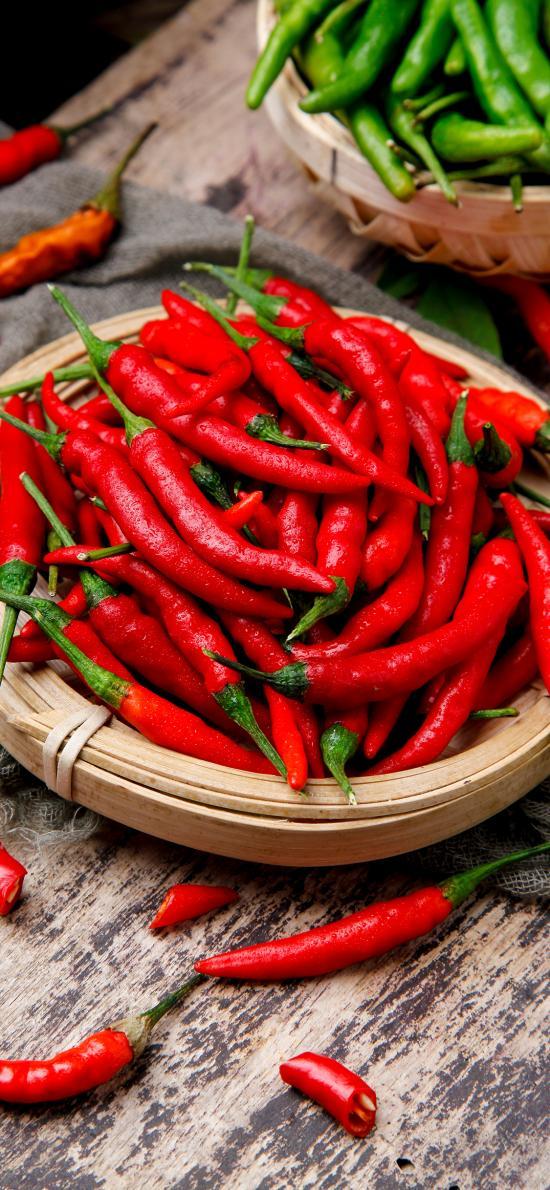 食材 辣椒 鲜红 调味料