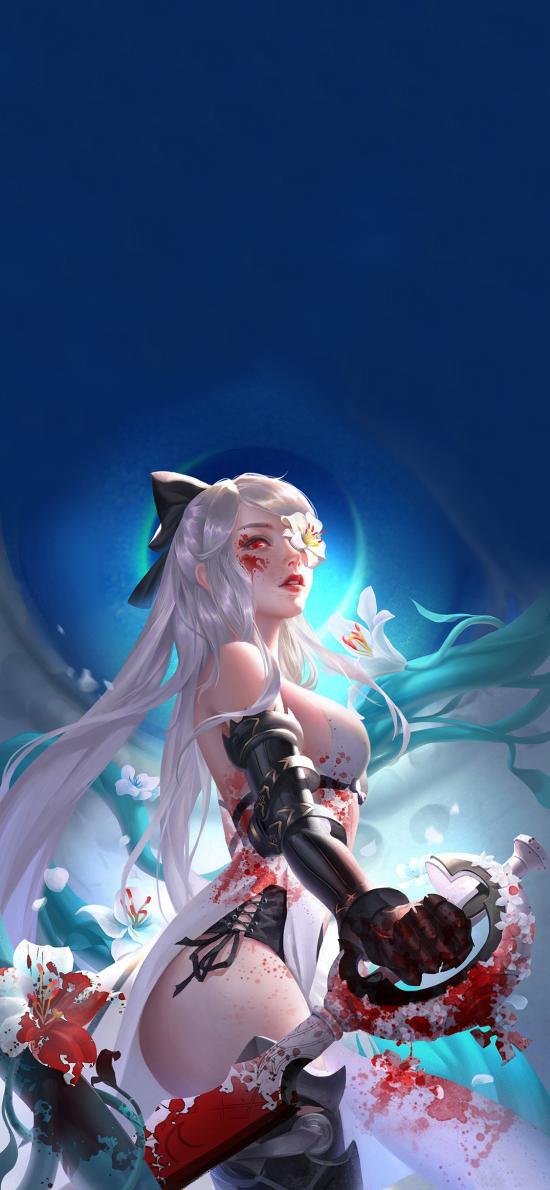 游戏 女角 英雄 血液