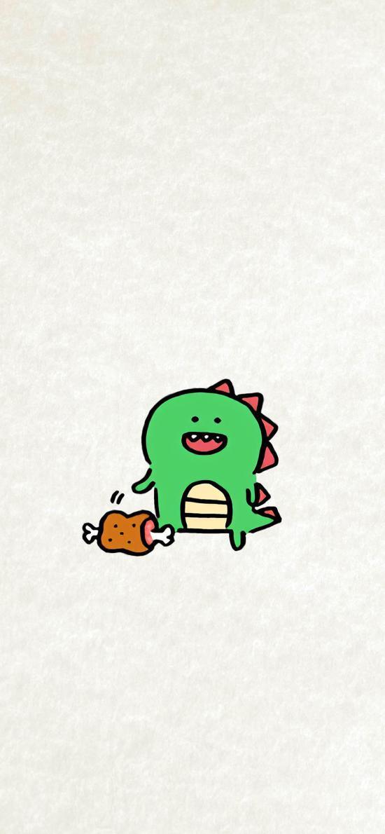小恐龙 简约 绘画 可爱