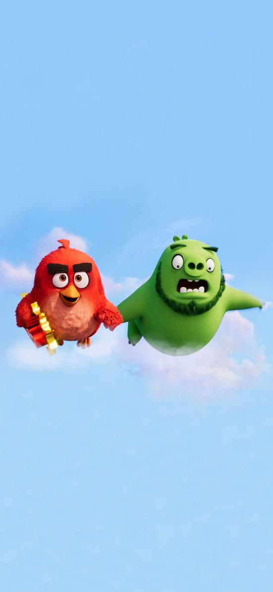 愤怒的小鸟2 动画 电影 海报 胖红 猪王