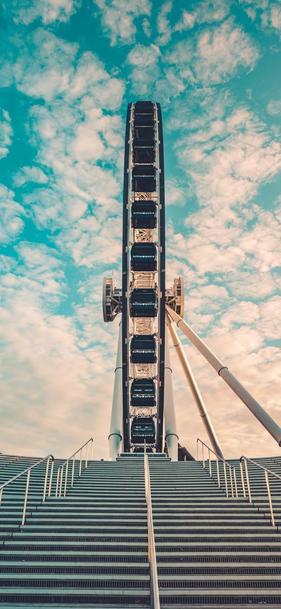 摩天轮 天空 游乐场 阶梯
