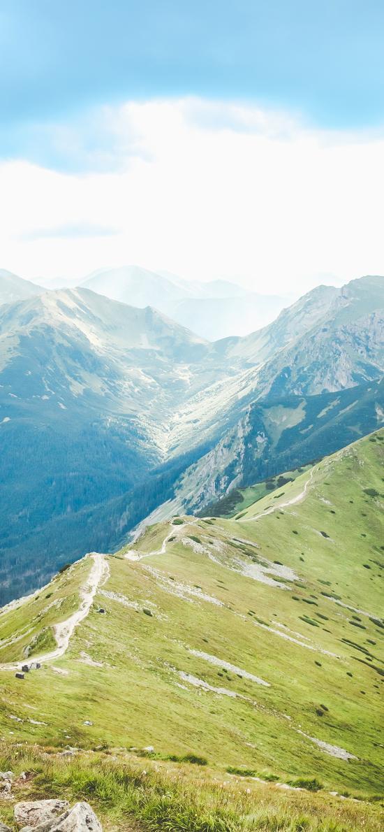 山脉 高山 景色 天空 蔚蓝