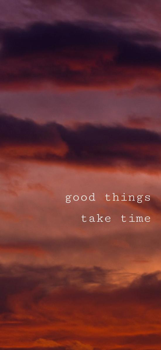 好事多磨 good things take time 天空 英语 英文