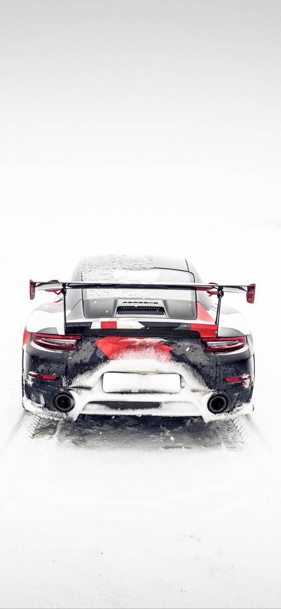 跑車 炫酷 雪地 冬季