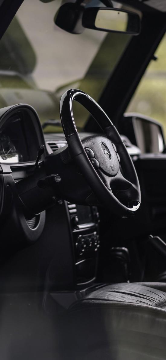 方向盤 奔馳 駕駛位 黑色 汽車
