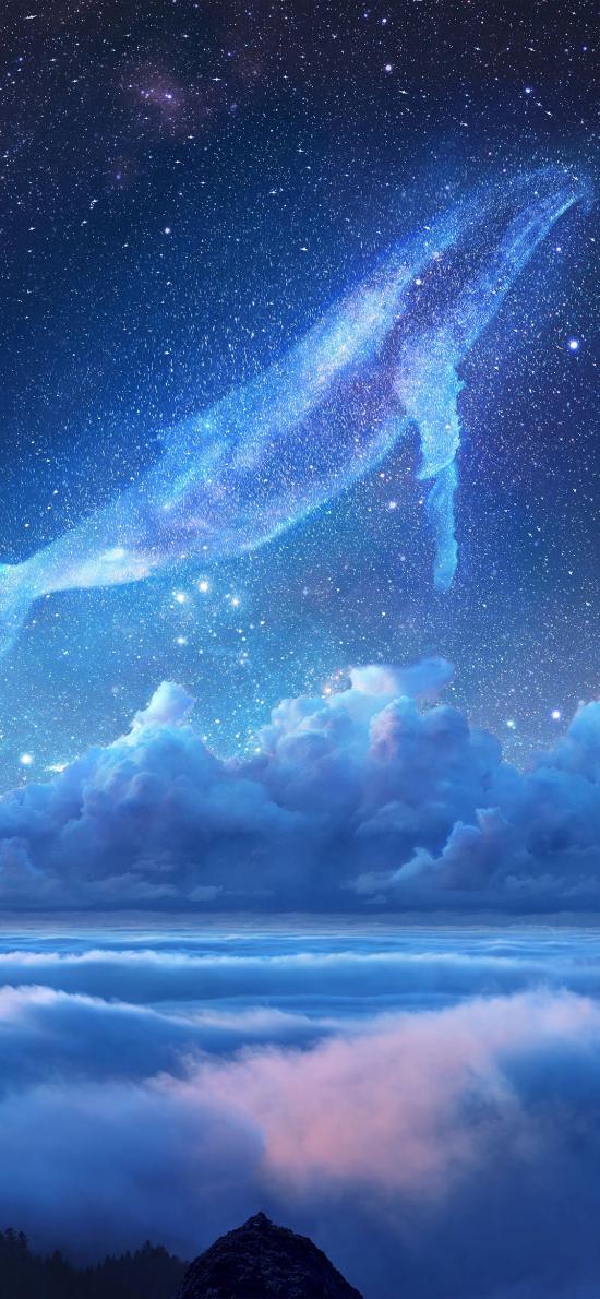 鲸鱼 星空 梦幻 唯美