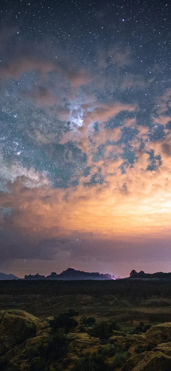 夜晚 唯美 星空 云层 广阔