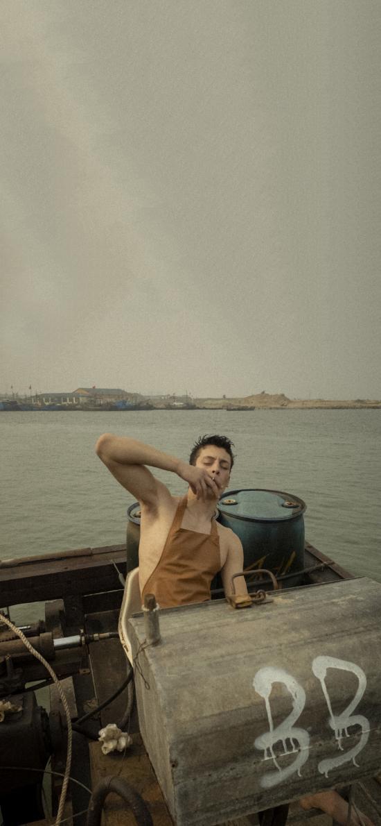 欧美 模特 男模 渔夫造型