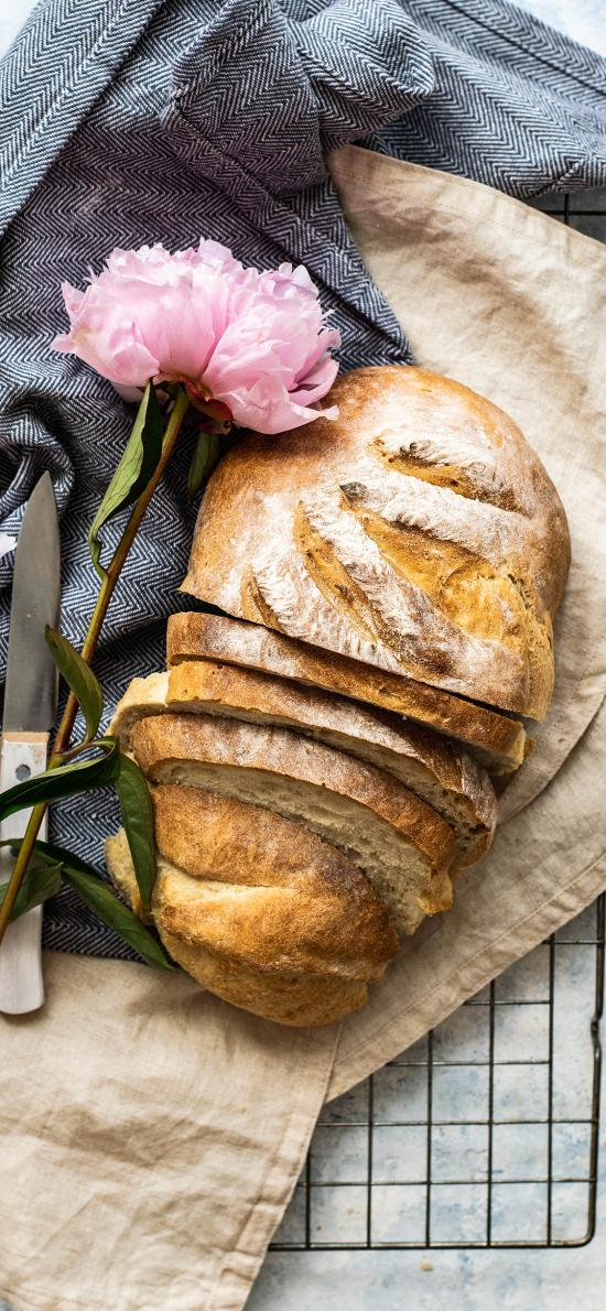 烘焙 点心 面包 欧包 鲜花 粉色