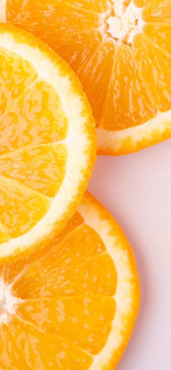 橙 水果 新鲜 切片