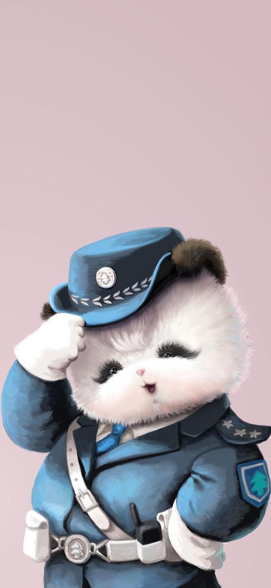 警察 熊猫 可爱 趣味