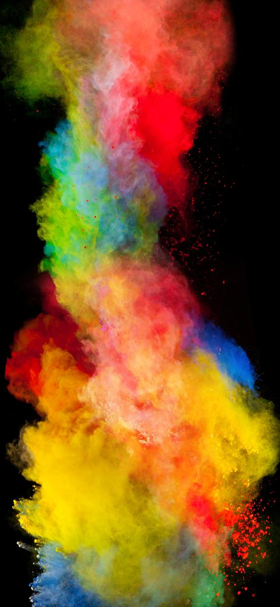 烟雾 水雾 融合 色彩 粉雾
