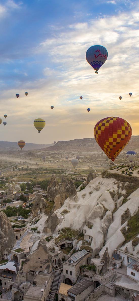 热气球 土耳其 地貌 景点