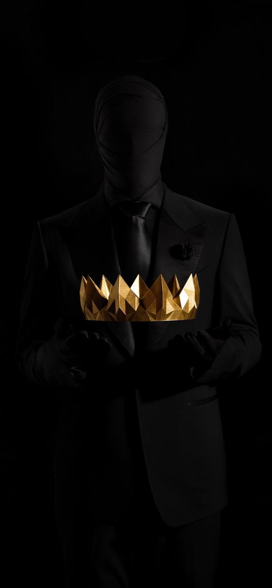 饰品 装饰 黑 皇冠 简约