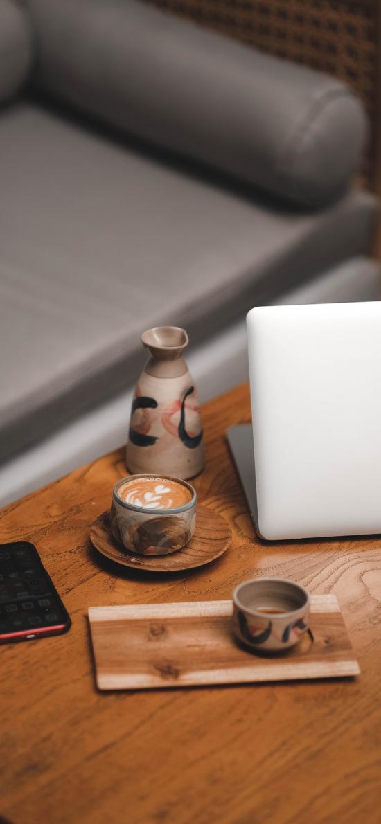 静物 笔记本 咖啡 手机