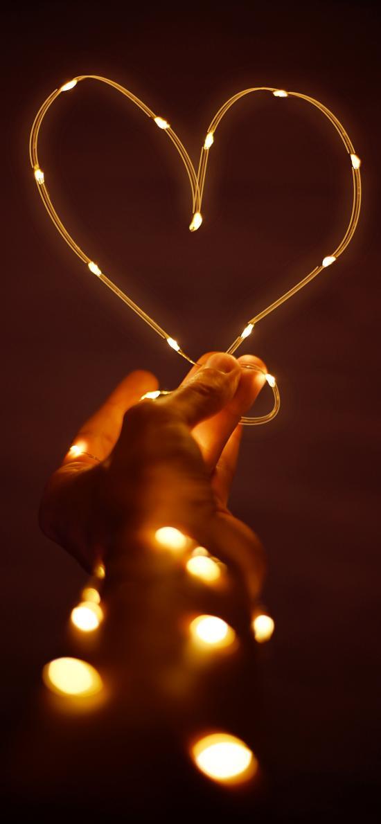 电线 灯 爱心 浪漫