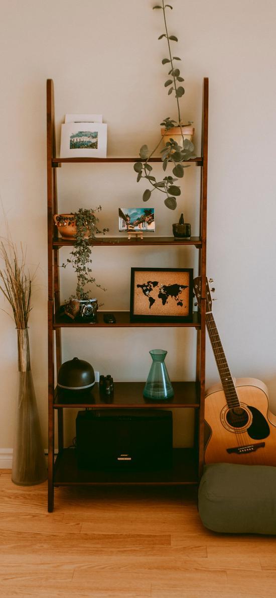 家居 静物 盆栽 摆件 吉他