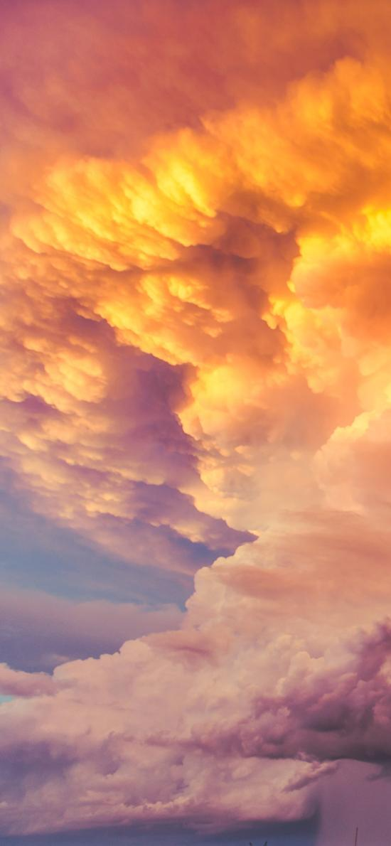 云彩 彩霞 色彩 云层