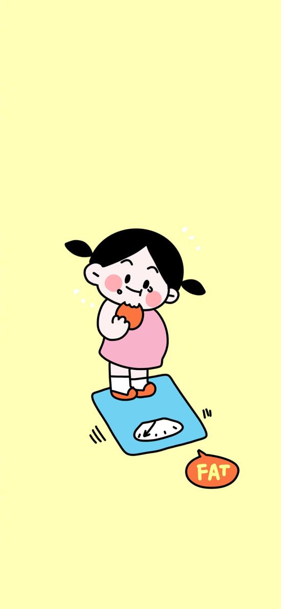 fat 称重 女孩 可爱