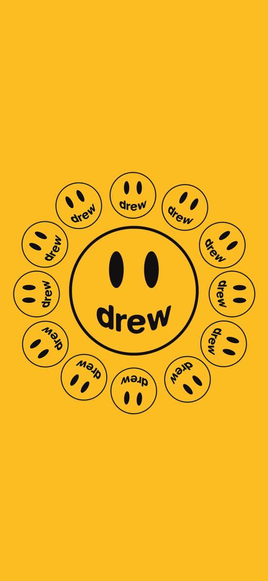 品牌 Drew House 笑臉 黃色(取自微博:G195)