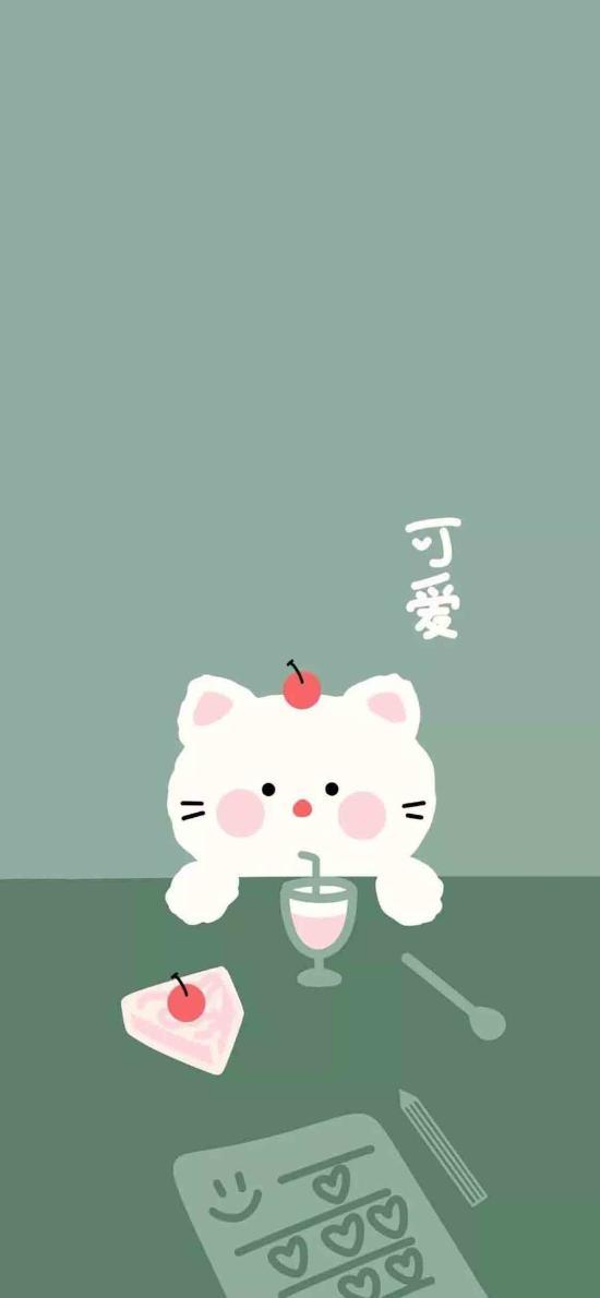 卡通 貓咪 可愛(取自微博:透心涼A兔子)