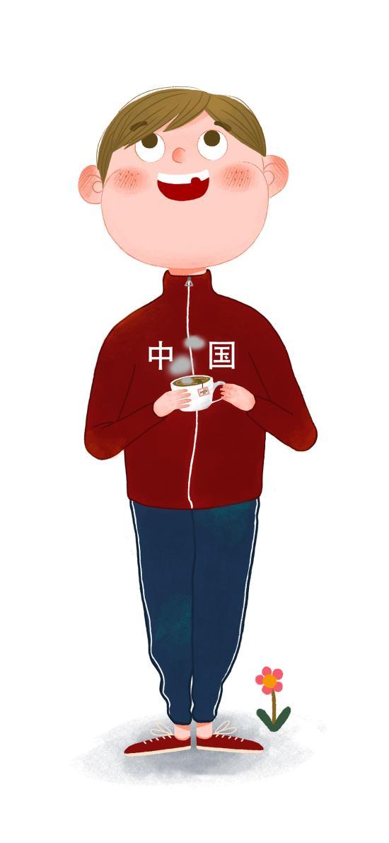 插畫 男孩 衣服 中國