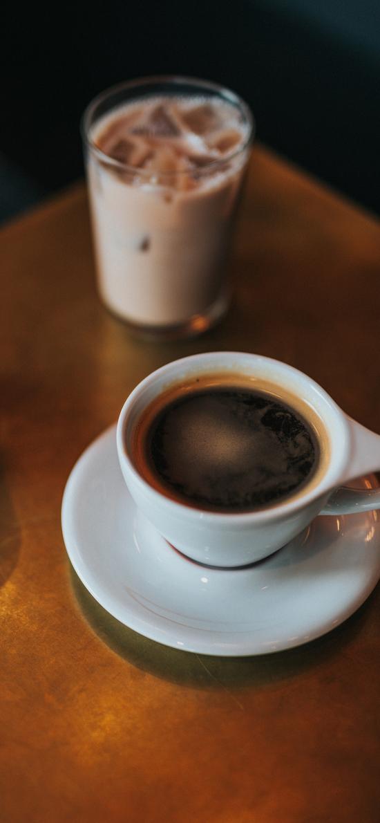 咖啡 冰块 美式 杯子