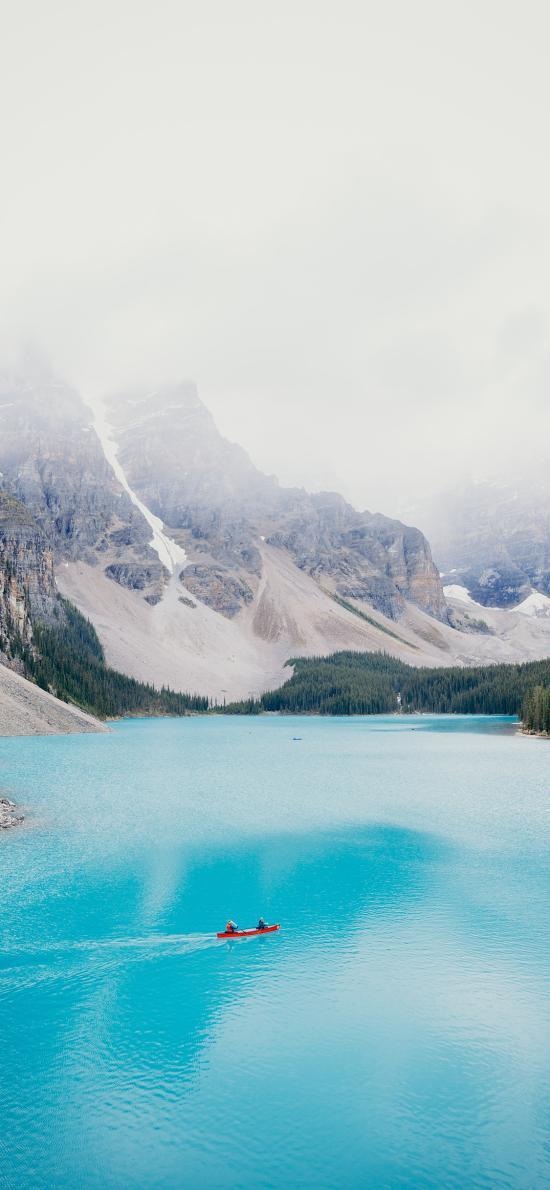 色彩 唯美 湖泊 群山