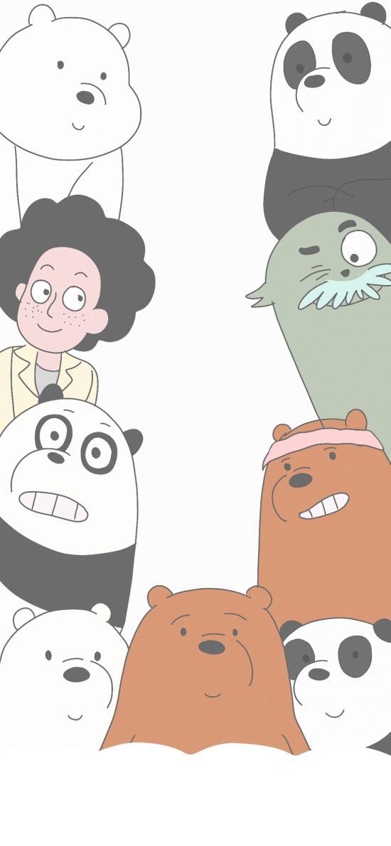 卡通 动画 咱们裸熊 三只熊(取自微博:寄喜饼给你喔)