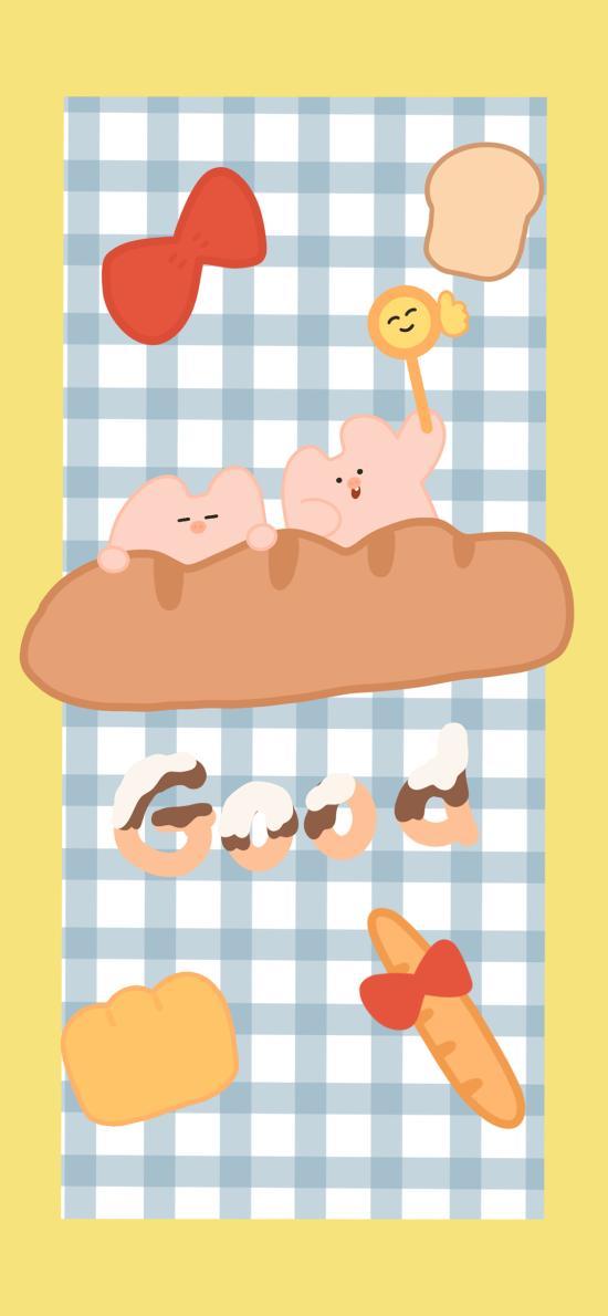 格子北极 卡通 小猪 good(取自微博:请你吃番茄呀)